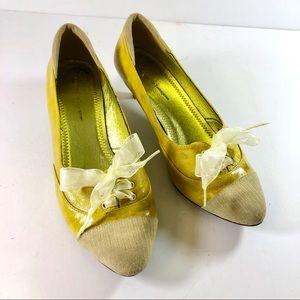 Women Anthropologie kitten heels laced oxfords, 9